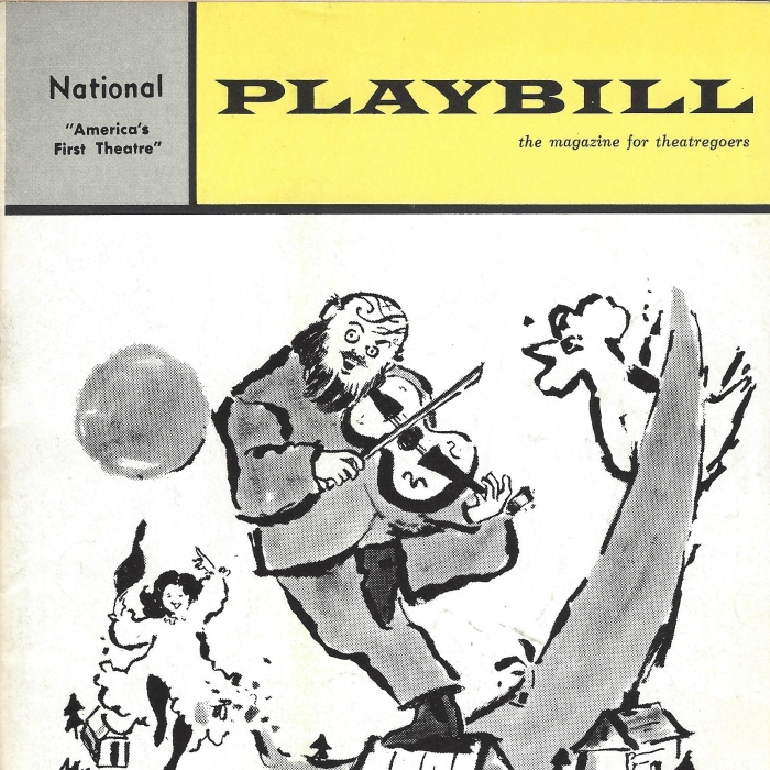 """A Playbill from the original production of """"Fiddler on the Roof."""""""