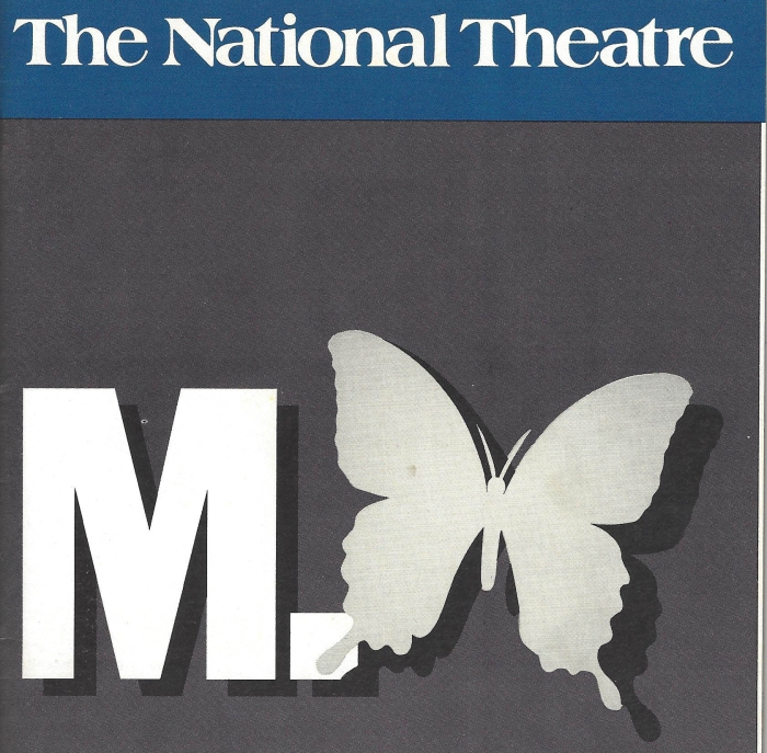 """A playbill cover for the original production of """"M. Butterfly."""""""